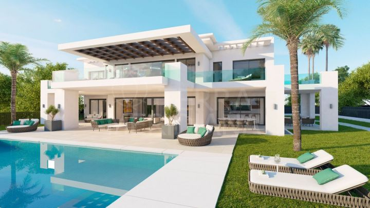 New-build, contemporary villa for sale, with pool and private garden in Nueva Andalucía, Marbella