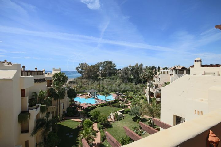 Duplex penthouse for sale in front line beach complex of Bahia del Velerin, Estepona