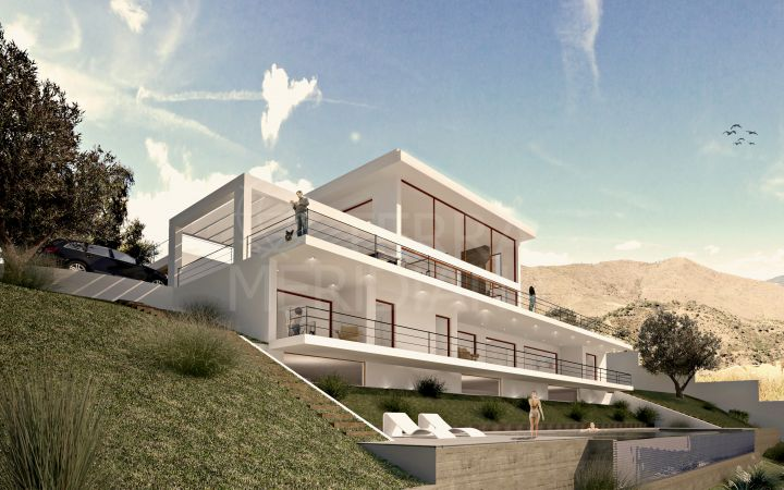 Off Plan villa for sale, with pool, sea views, and contemporary design, La Mairena, Marbella