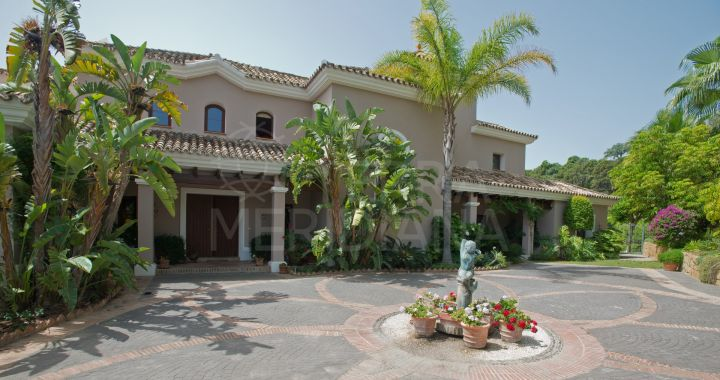 Mediterranean villa for sale in La Zagaleta with cinema, bodega, private pool and south facing