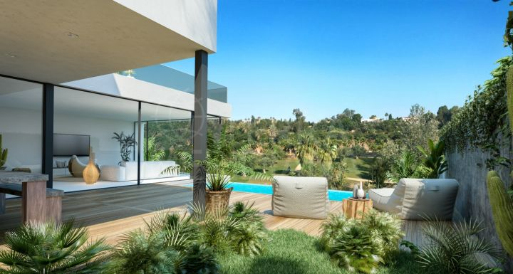 Luxurious new 4 bedroom villas for sale in El Campanario, Estepona with private swimming pool
