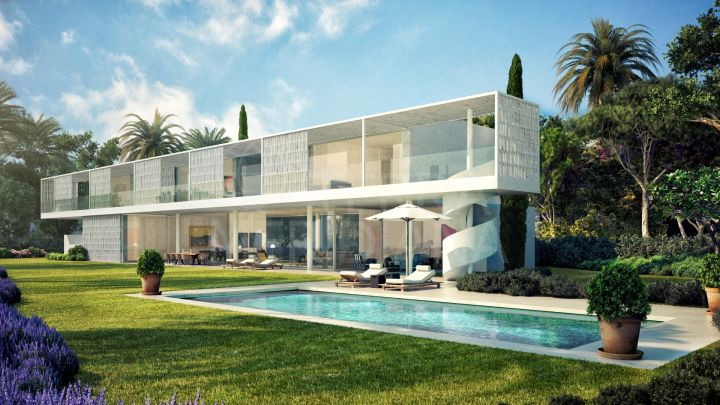 Stylish brand new 5 bedroom villa, front-line Cortesin Golf, for sale in Casares
