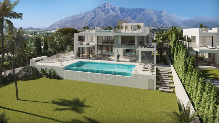 Exceptional off-plan villa with sauna and gym for sale in the heart of the Marbella Golden Mile