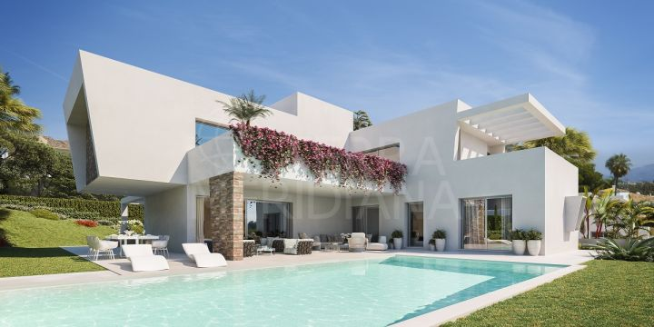 Off plan timeless contemporary villa of extraordinary quality for sale in Las Perlas de Monte Biarritz, Estepona