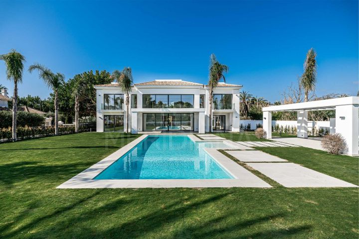 Villa 100m from the beach for sale in much sought after Casasola, Estepona