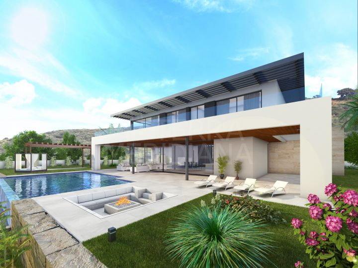 Sustainable luxury turnkey villa with golf and sea views, and a 6 month construction period for sale in Paraiso Alto, Benahavis