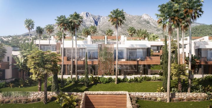 Unprecedented off plan deluxe villa with commanding views in Le Blanc within the exclusive neighbourhood of Sierra Blanca, Marbella Golden Mile