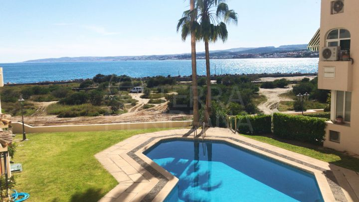 Apartment in move in condition for sale in Estepona front line complex, Marina Bay, with sea views and garage