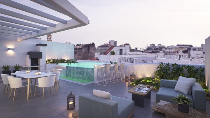 Off-plan luxury penthouse with private pool walking distance to all amenities and the beach for sale in Old Town Marbella