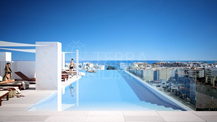 Off plan luxury 2 bedroom apartment for sale in a symbolic area of Estepona centre