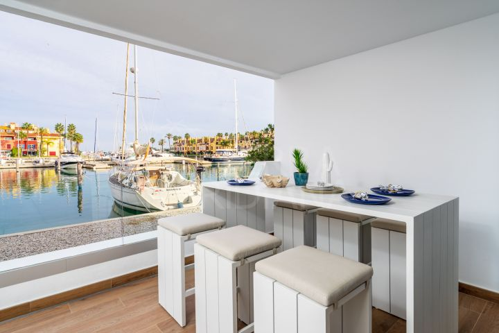 Brand new ground floor apartment with panoramic views of the marina for sale in PIER, Sotogrande