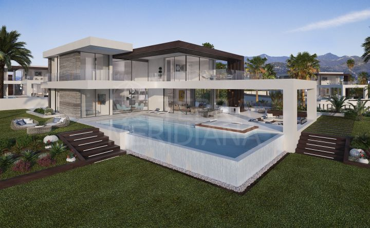 Modern off plan villa with sea views and bespoke options for sale in Velvet, New Golden Mile, Estepona