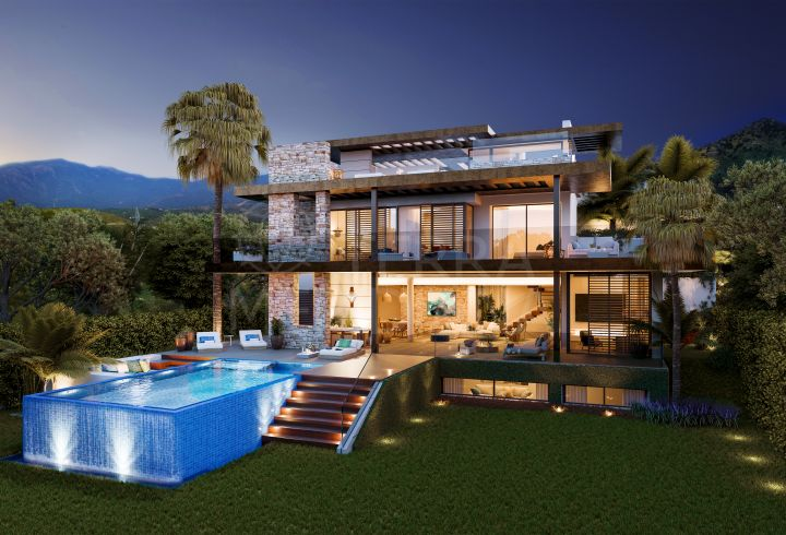 Off plan luxury sustainable villa for sale in the ecological community of Be Lagom, Benahavis