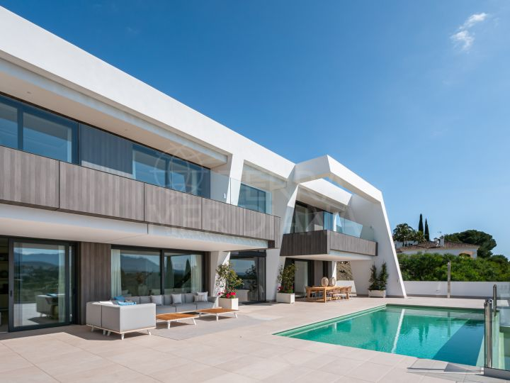 Brand new luxury villa with panoramic views for sale in Light Blue Villas, El Paraiso, Estepona