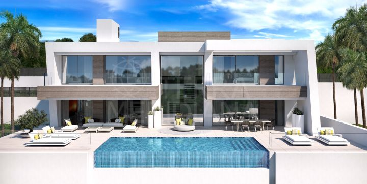 Remarkable brand new contemporary villa with panoramic views for sale in Light Blue Villas, El Paraiso, Estepona