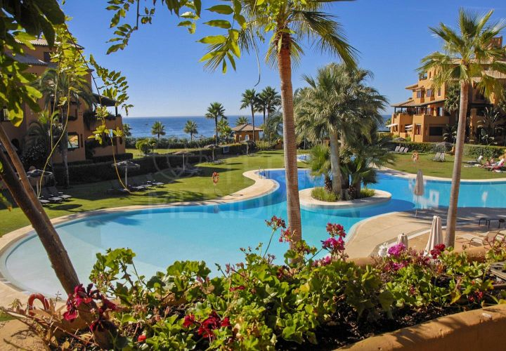 Luxury front-line beach apartment with sea views for sale in Los Granados del Mar, Estepona