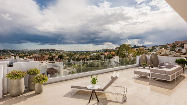 Luxurious contemporary duplex penthouse for sale in 9 Lions Residences, Nueva Andalucia, Marbella