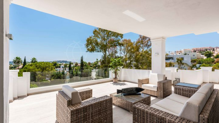 Exemplary modern garden apartment for sale in 9 Lions Residences, Nueva Andalucia, Marbella