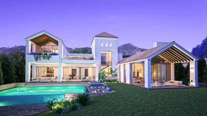Sensational contemporary villa for sale in The Heights, La Resina Golf, Estepona