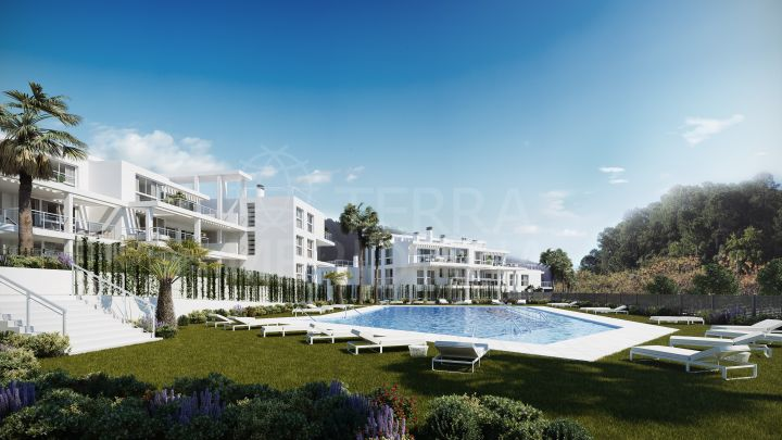 Impressive brand new luxury first floor apartment for sale in the village of Benahavis