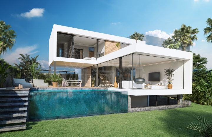 Exclusive and contemporary luxury frontline golf villa for sale in El Campanario, Estepona