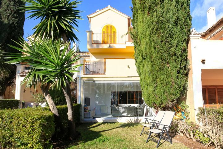 Beautiful house for sale with sea views in El Velerin, front line beach, Estepona