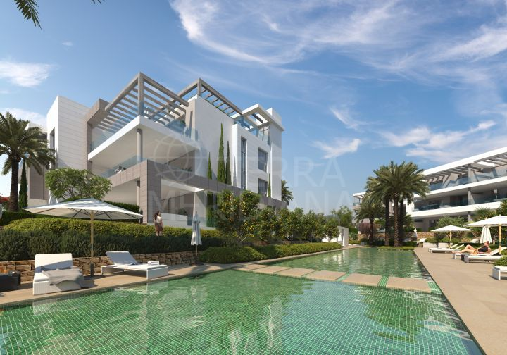 Fabulous contemporary ground floor apartment for sale in Syzygy, Estepona