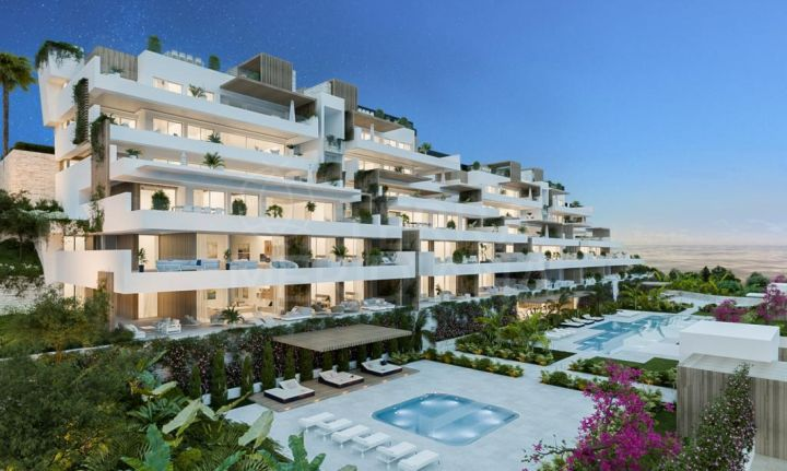 Off-plan modern ground floor apartment with large terrace for sale in Alexia Life, Estepona town