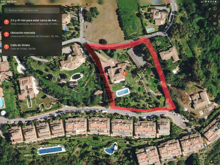 Unprecedented development opportunity of a sizeable plot for sale in iconic Cascada de Camojan, Marbella Golden Mile
