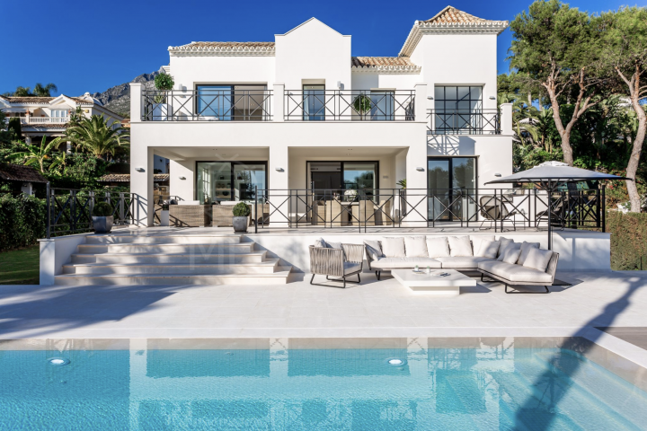 Luxury villa with sweeping sea views for sale in Sierra Blanca, Marbella Golden Mile