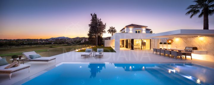 Renovated frontline golf villa with views for sale in Los Naranjos Golf, Nueva Andalucia, Marbella