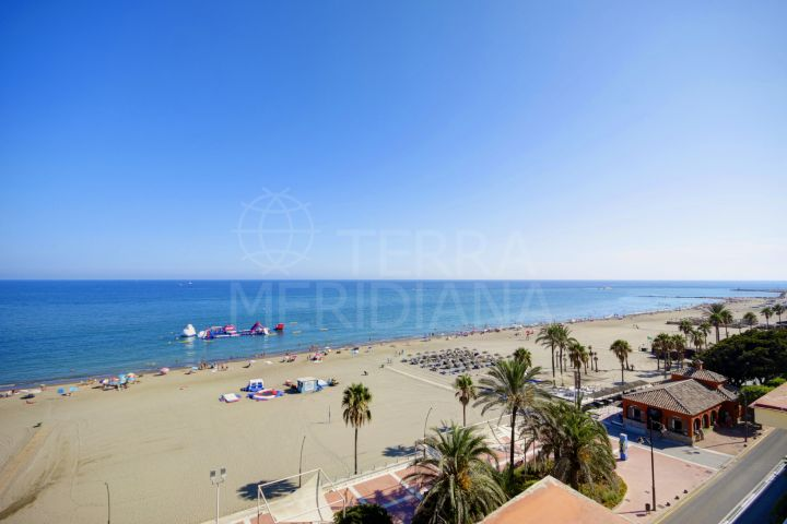 5th floor apartment for sale on a front-line beach building in the centre of Estepona close to the port