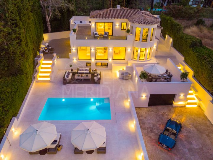 Exceptional fully upgraded Mediterranean inspired luxury villa for sale in Nueva Andalucia, Marbella