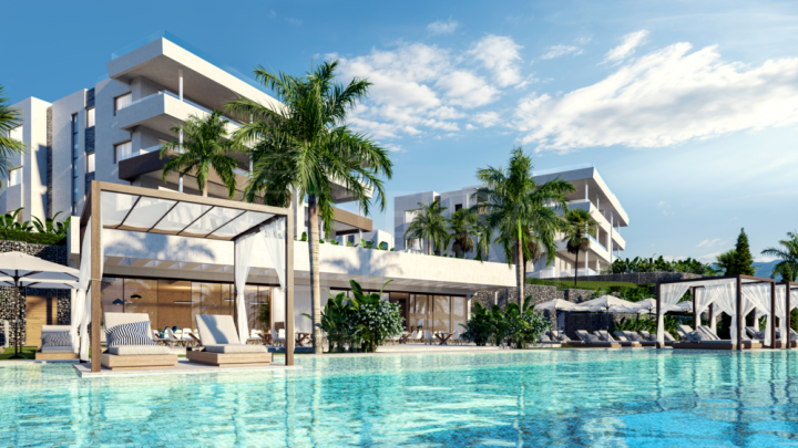 Off-plan luxury penthouse apartment with solarium and private pool for sale in Soul Marbella, Santa Clara, Marbella East