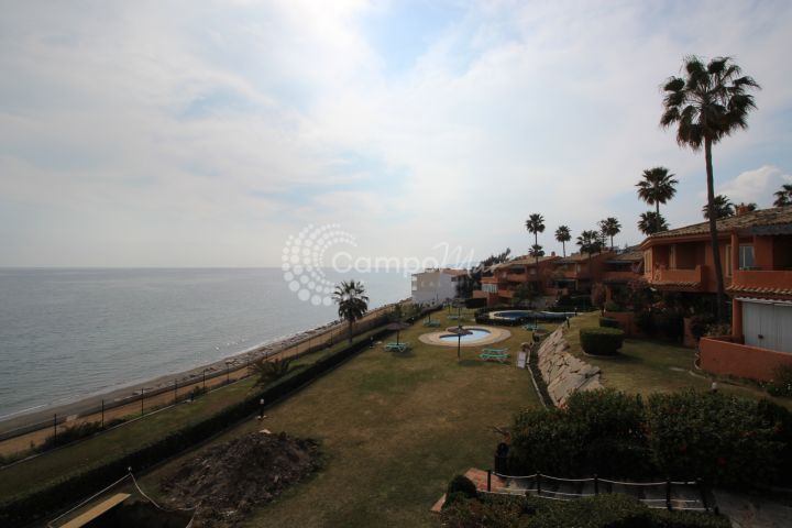 Estepona, Front line beach corner town house with stunning views
