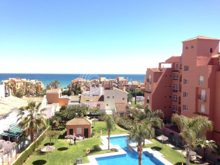 Manilva, Beutiful sea views from this apartment in Los Hidalgos Golf.