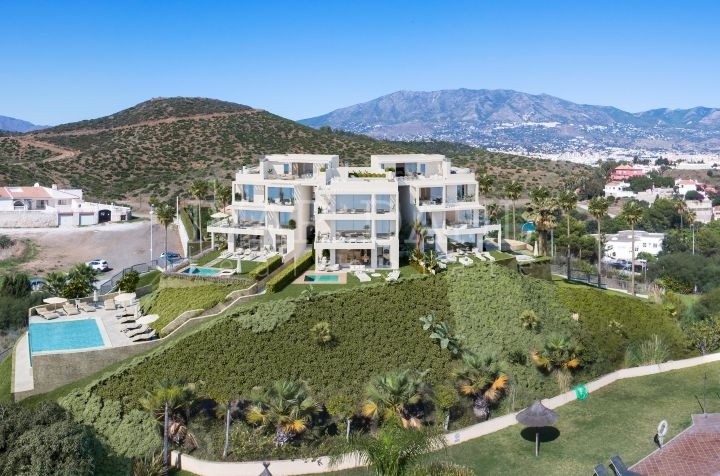 New modern Penthouses with sea views for sale in Mijas-Costa, Malaga.