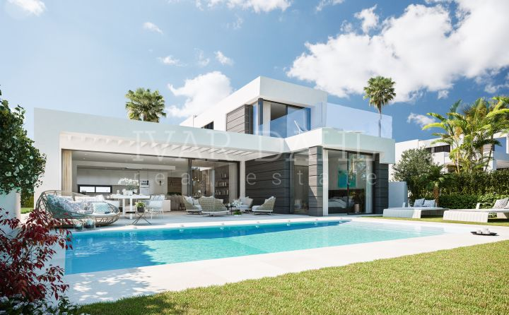 New development of modern villas with sea views in Mijas-Costa, Málaga, Costa del Sol