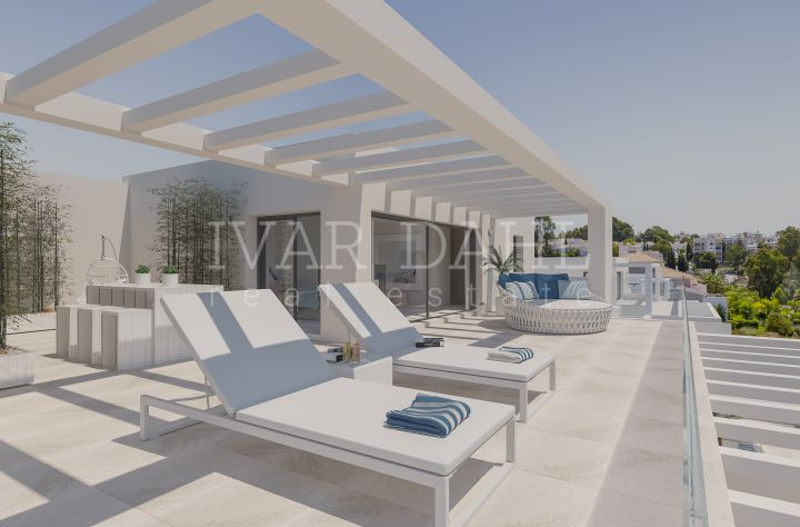 New modern, contemporary, apartments and penthouses in golf area of Estepona