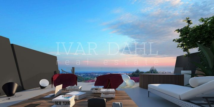 Estepona, exclusive contemporary homes, with SPA, for sale near top golf