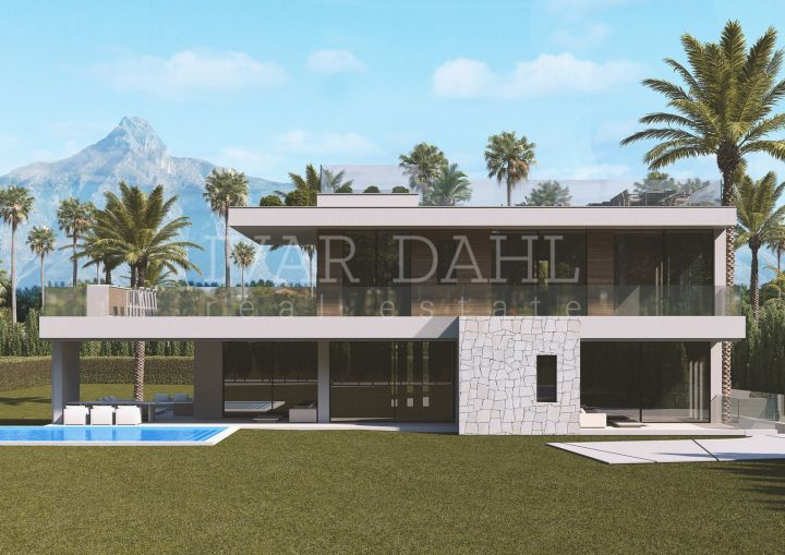 New project of three contemporary luxury villas set at the heart of Golden Mile, close to Marbella and Puerto Banus