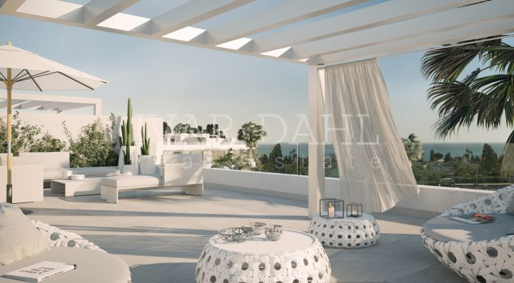 Estepona, new apartments and penthouses of 2, 3 and 4 bedrooms