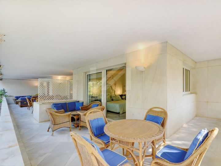 Luxury second line beach apartment in an exclusive complex on the Golden Mile