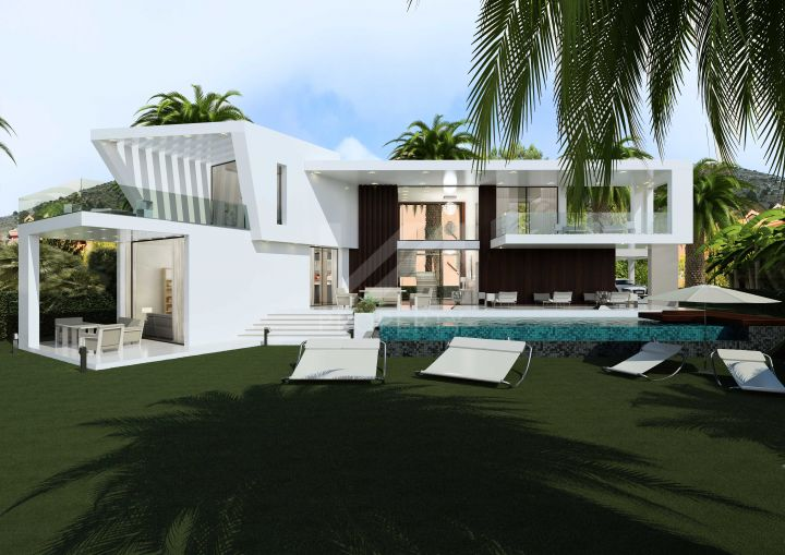 Impressive southwest-facing contemporary turnkey villa by the new Hilton Hotel in Reserva del Higueron, Benalmádena.