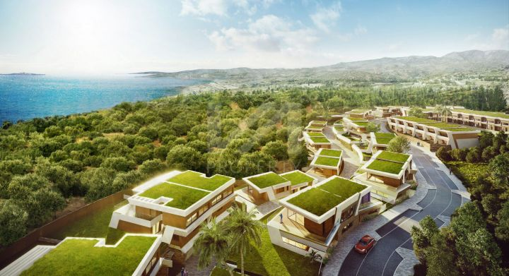 Unique development of townhouses and semi-detached villas enjoying spectacular sea views in Mijas Costa
