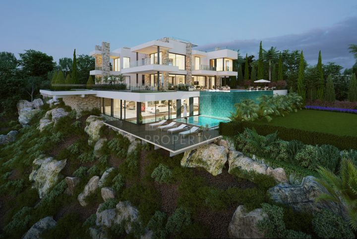 Spectacular off-plan villa located in the renown golf resort Los Flamingos, Benahavis.