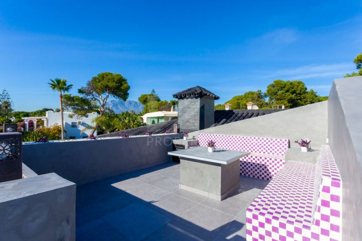 Impressive southwest-facing fully renovated beachside villa, 50-meters from La Cabane, Los Monteros Playa.