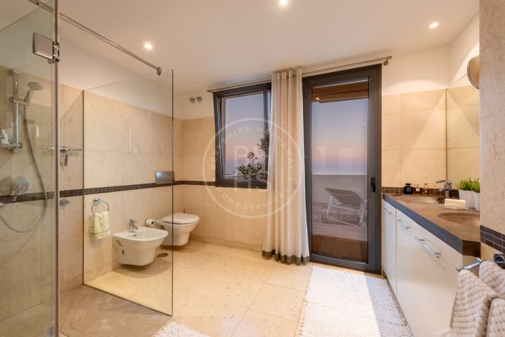 Outstanding duplex penthouse with panoramic views to the Mediterranean sea, Gibraltar and Africa in Los Monteros Hill Club.