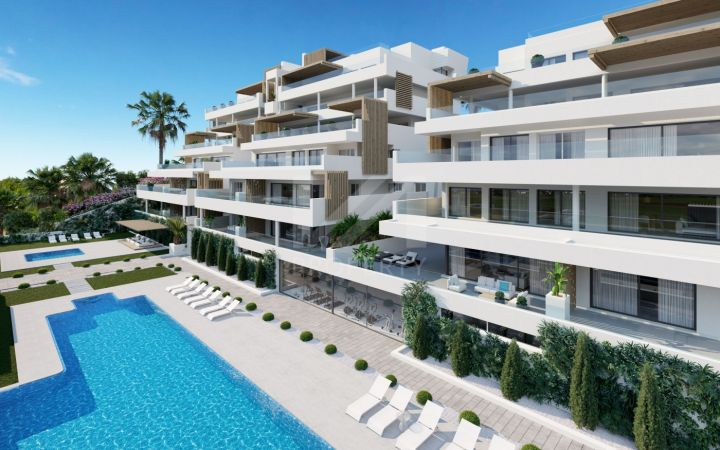 Contemporary ground-floor apartment with panoramic views close to all amenities in Estepona