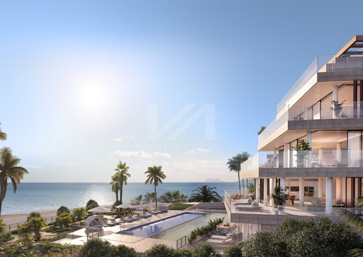 Exclusive off-plan beachfront luxury duplex penthouse with private pool and garden terrace in Estepona